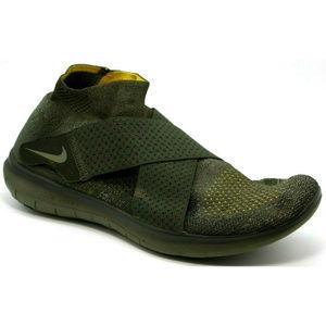Nike Free RN Motion Flyknit Sequoia Strap Green